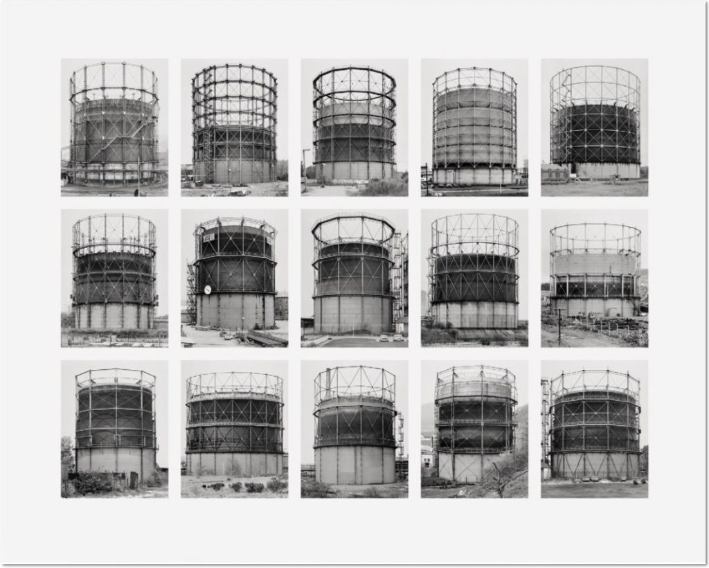 """Bernd und Hilla Becher Gasbehälter (Gas Tanks) 2009 Image VII from Typologies Digital pigment print (Ditone) on photo paper, 90 x 112 cm (35½ x 44""""). Edition of 40, signed """"B. + H. Becher"""" on label verso by H. Becher, numbered."""