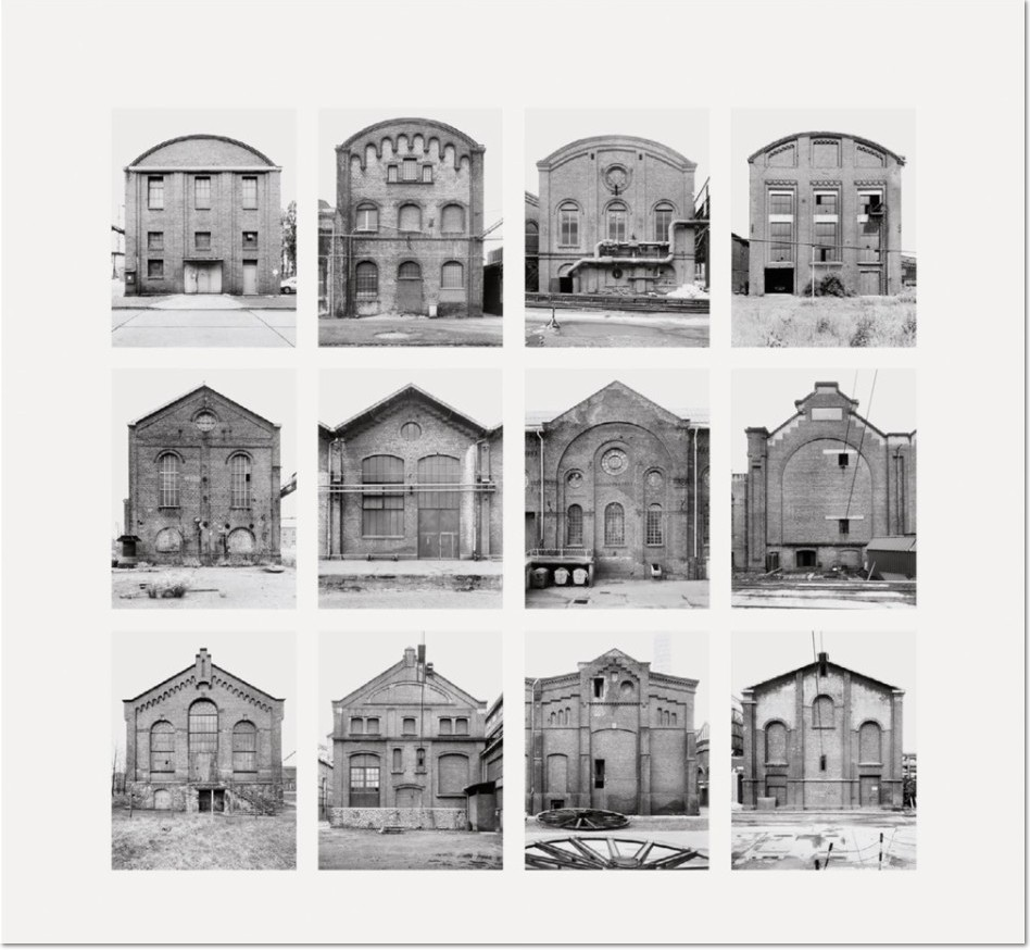 """Bernd und Hilla Becher - Industriehallen (Industrial Facades) 2006 Image II from Typologies Digital pigment print (Ditone) on photo paper, 90 x 93 cm (35½ x 36½""""). Edition of 40, signed and numbered on verso."""