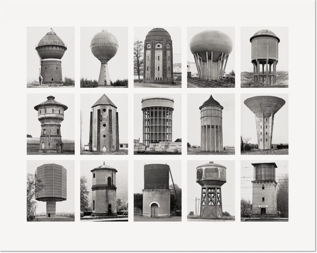 """Wassertürme (Water Towers) 2007 Image IV from Typologies Digital pigment print (Ditone) on photo paper, 90 x 112 cm (35½ x 44""""). Edition of 40, signed """"B. + H. Becher"""" by Hilla Becher and numbered on verso."""