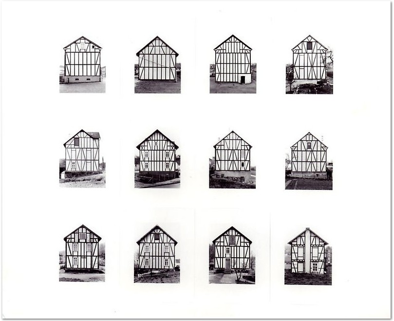 Bernd & Hilla Becher. Framework Houses, 1993. 194 x 208cm, Ed. 100.