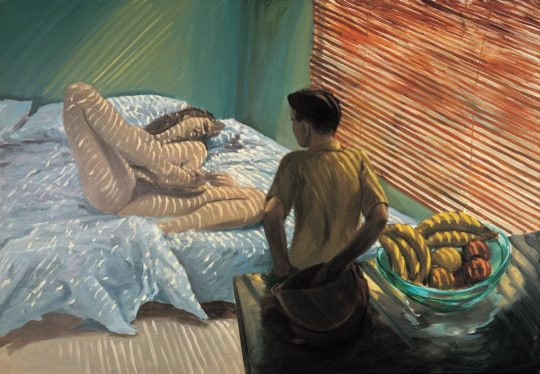 Eric Fischl - Bad Boy 1981, oil on canvas, 66″ x 96″ [168 x 244 cm]. Copyright of the artist.