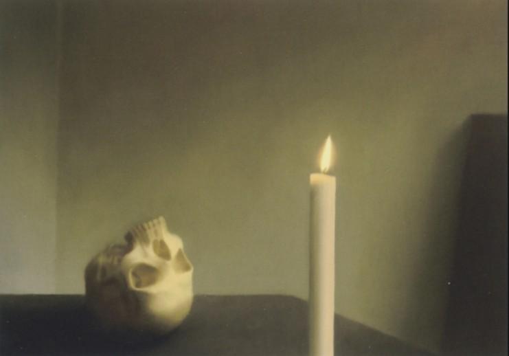 Gerhard Richter – Schädel mit Kerze
