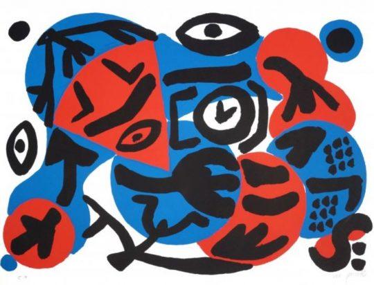 A.R. Penck - Perry Rhodan 4, 1996, Farbserigrafie 70 x 100 cm, lim. Auflage: 40, signiert und nummeriert