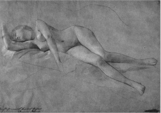 """Gustav Klimt: """"Weiblicher Akt (2)/ Female Nude"""""""