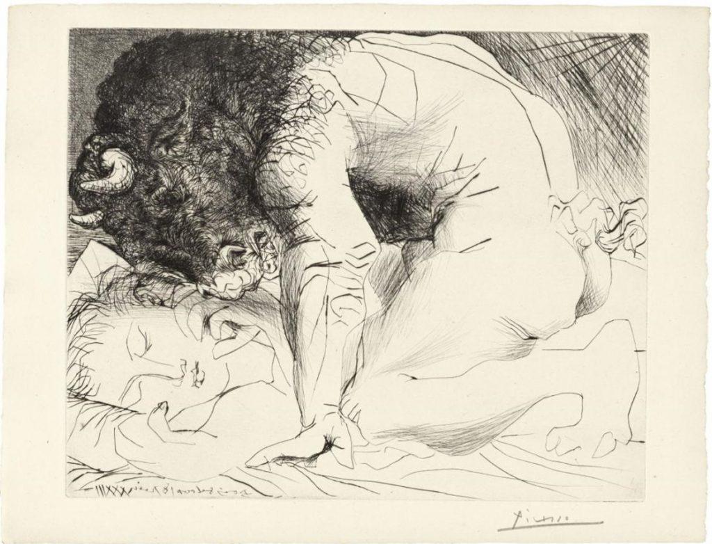 Pablo Picasso, Minotaure caressant une Dormeuse, Bl. 93 aus La Suite Vollard