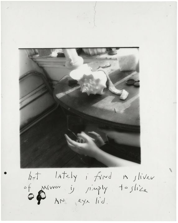 Francesca Woodman, But lately I find a sliver of mirror is simply to slice an eyelid, New York, 1979-80 © George and Betty Woodman