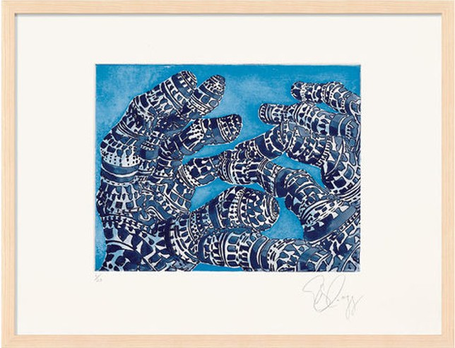 "Tony Cragg: ""Manipulation 4"", 2007, Lithograph on hand made paper, signed and numbered, edition of 24, size: 50 x 66 cm, framed: 53 x 69 cm"