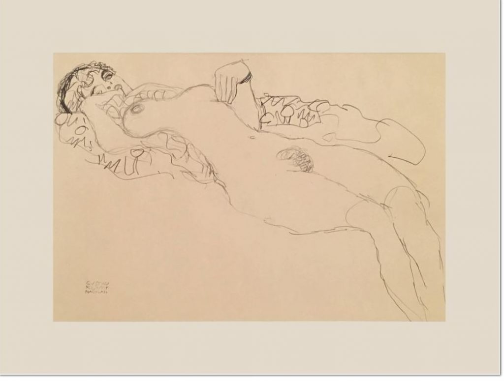 Gustav Klimt, Woman at Rest, (from 25 Drawings Selected and Edited by Alice Strobl), 1964, Facsimile print