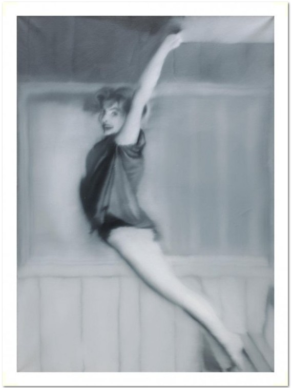 Gerhard Richter: 'Gymnastics', offset print, after the oil painting of the same title from 1967, Catalog Raisonné: 156 size: 76, 2 x 53,3 cm, or: 101.5 x 71,1 cm