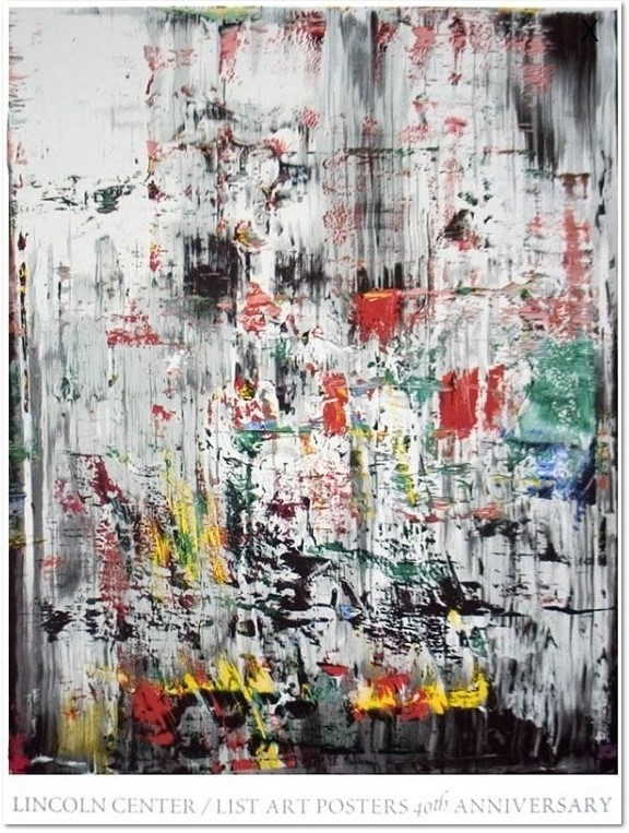 """Gerhard Richter: Ice II, original 42 colors screen printing on Somerset Rag Papier, published by teh Lincoln Center for the Performing Arts, Inc., New York City. Text unten: """"Lincoln Center / List Art Posters 40th Anniversary"""". Lim. Auflage 500 Exemplare, (450 for sale to the public) size: 114 x 87 cm. after the oil painting of the same title from 1967, Catalog Raisonné:: 706-2, The Art Institute of Chicago, Chicago, USA."""