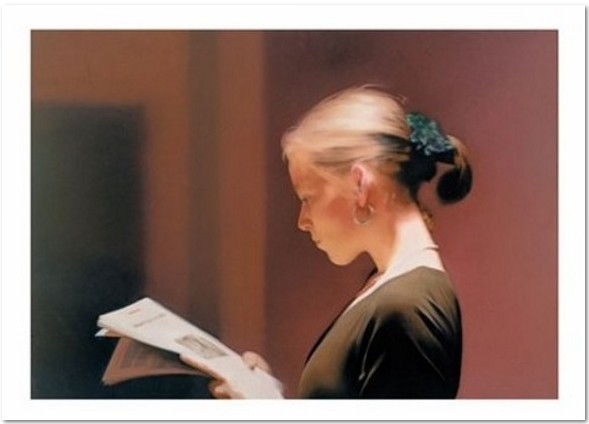 Gerhard Richter, Lesende (Reader), offset print after the oil painting of the same title from 1994, Catalog Raisonné: 804, unsigned, picture size: 50.8 x 35.8 cm, sheet size: 71 x 55.9 cm
