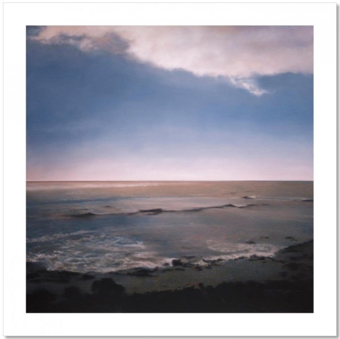 Gerhard Richter, Seestück (Seascape), offset print, after the oil painting of the same title from 1998, Catalogue Raisonné: 852-1, Oil on canvas, size; 55,8 x 55,8 cm, or 76,2 cm x 76,2 cm