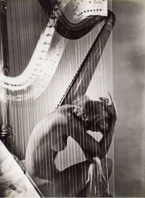 Horst P. Horst: Lisa with Harp, 1940