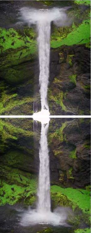 Olafur Eliasson: Contact is Content at Seljalandsfoss, 2014, 2 x C - Prints. edition of 100, each 53 x 42 cm